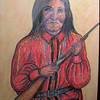 Alchesay-Apache Scout -  awarded Congressional Medal Of Honor, 1994, pastel, 18x24