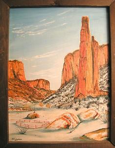 Canyon de Chelly, 1977, oil, 12x16