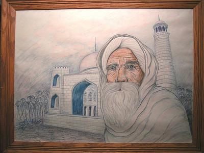 Mosque, color pencil, 1993, 18x24