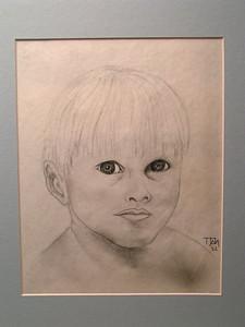Baby, 1962, pencil, 8x10