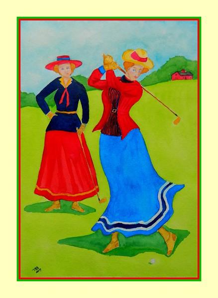Ladies Day, May 1, 1901  11x15, watercolor, jan 19, 2017 DSCN983711-A