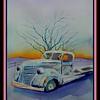162. Winter Twilight, Abandoned Truck #2, 9x12, watercolor, nov 9, 2017.DSCN01292.jpg