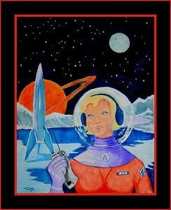 7.Homage to Earle K Bergey - Titan Beauty, 11x14, watercolor, jan 15, 2017
