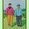 19.	Bob Hope & Bing Crosby, Berkshire Golf Club, GB, 1952, 11x15, watercolor, feb 9, 2017