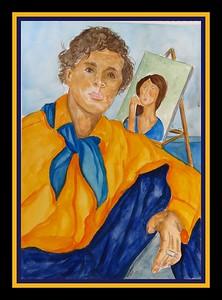 31.Amedeo Modigliani, 11x15, watercolor, March 15, 2017