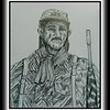 90.	Bush War Soldier - Selous Scout, Rhodesia, 1976. 14x17, graphite pencil, july 10, 2017