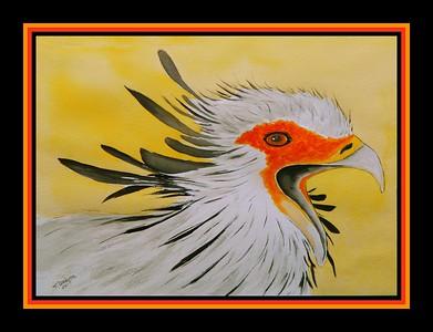 45.Secretary Bird, 11x15, watercolor, april 23, 2017