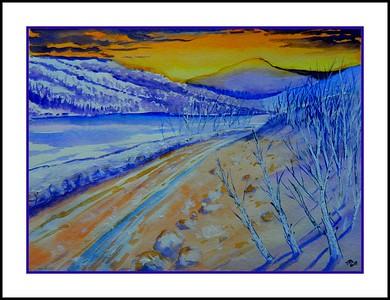 4.The Cascade Pass, 11x15, watercolor, jan 8, 2017.