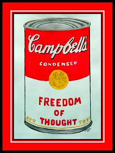 15.Homage to Andy Warhol - Soup Can 33. 11x15, watercolor, jan 31, 2017.
