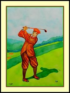 20.George Duncan, Winner Britsh Open, 1920. 11x15, watercolor, feb 11, 2017