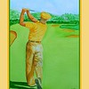 23.	Ben Hogan, 1950 U.S. Open, Merion GC, Ardmore, PA,11x15, watercolor, feb 18, 2917