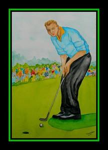 43.Arnold Palmer - 1960 Masters, 11x15, watercolor, april 20, 2017.
