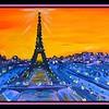 Paris Sunset, 10x20, acrylic on canvas, dec 27, 2017.