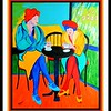 1-Afternoon Tea at the Cafe, 16x20, acrylic on canvas, may 9  2017 DSCN99831