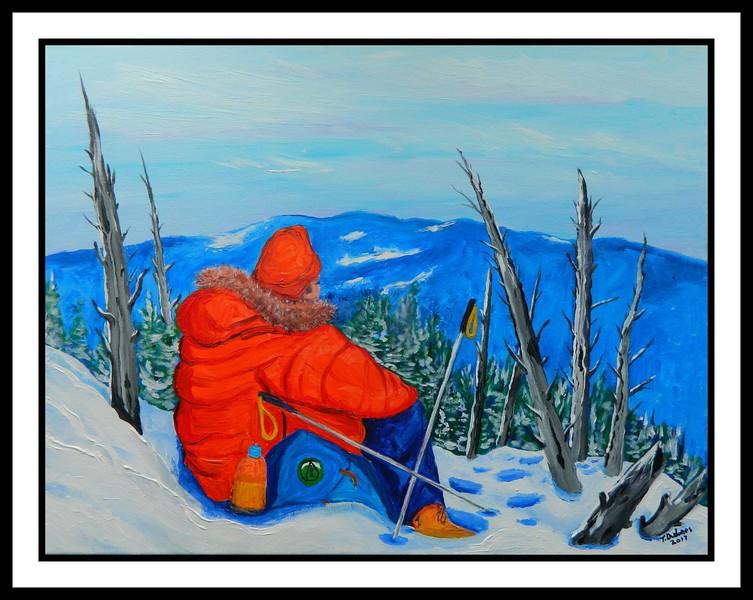 54.Winter Summit, 16x20, acrylic on canvas, may 14, 2017.