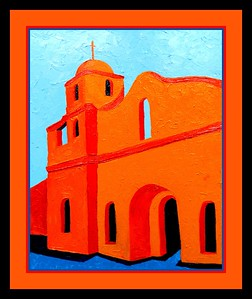 10.Old Scottsdale Mission, 11x14, oil on canvas board, jan 22, 2017
