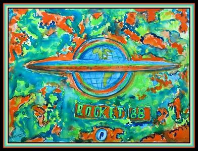 7.Rocket 88, #2 - 11x15, watercolor, jan 14, 2021.