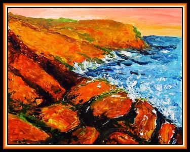22.Cape John, 11.5x15, acrylic on cardboard, march 6, 2021.