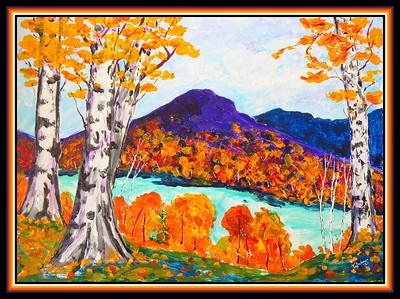 23.Mt Baker, 11x15, acrylic on cardboard, march 8, 2021.