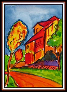 29.The Yellow House #4, 4.5x6, watercolor, march 17, 2021.