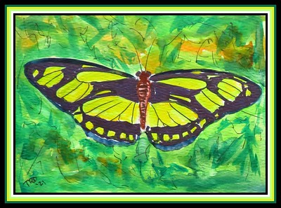 41.Dido Longwing, Mexico, 4.5x6, watercolor, acrylic & ink, april 12, 2021.
