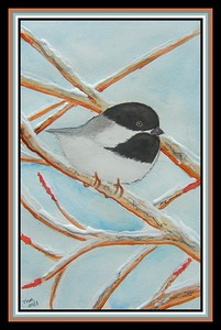 15.Winter Resident, 6x9, watercolor ink & acrylic house paint on paper, feb 7, 2021.