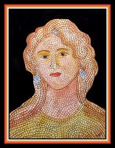 45.Sepphoris Mosaic, 3rd century Israel, 9x12, watercolor, gouache & color pencil, april 15, 2021.