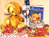 "<h2> Teddy's Christmas </h2>  11""h x 15""w   Pure Transparent Watercolor SOLD"