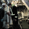 Engine Room Conversation<br /> Communication is challenging amongst the constant noise of the equipment required to keep the ship's systems fully functioning.