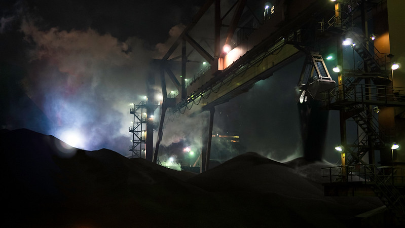 Untitled<br /> iron Ore is unloaded at the dock of ArcelorMittal Dofasco in Hamilton