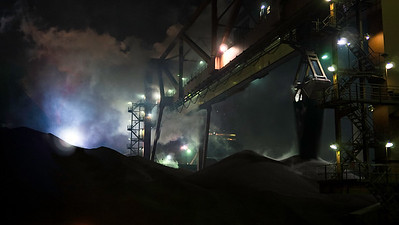 Untitled iron Ore is unloaded at the dock of ArcelorMittal Dofasco in Hamilton