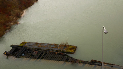 Untitled Abandoned dock alongside the Welland Canal