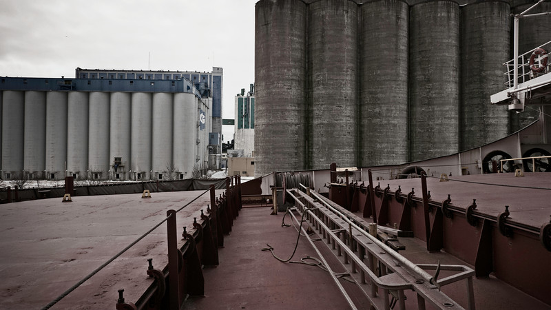 Silos<br /> The port of Thunder Bay is important due its location on the north shore of Lake Superior. Grain from the west is shipped by rail to the port for transportation by ship to domestic and international markets.