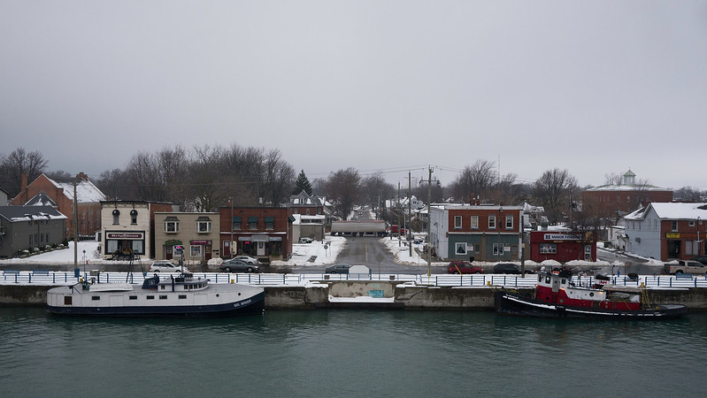 Port Colborne<br /> Port Colborne at the Lake Erie entrance to the Welland Canal.