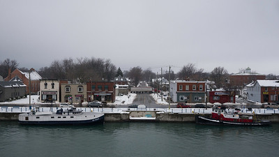 Port Colborne Port Colborne at the Lake Erie entrance to the Welland Canal.