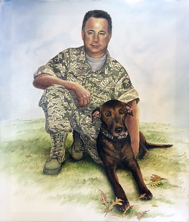 Commissioned memorial pet portrait. 16x20 oil on canvas. 2016