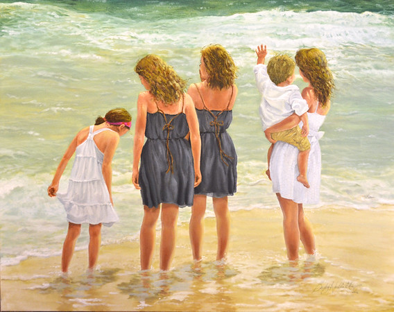 """""""Children of the Sea - 30"""" x 24"""" Oil on canvas.  NFS"""