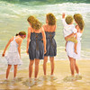 """Children of the Sea - 30"" x 24"" Oil on canvas.  NFS"