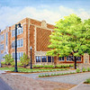 "Commissioned painting of Indiana State University Bayh College of Education.  April, 2013. 16""x20"" Acrylic on textured artist board."