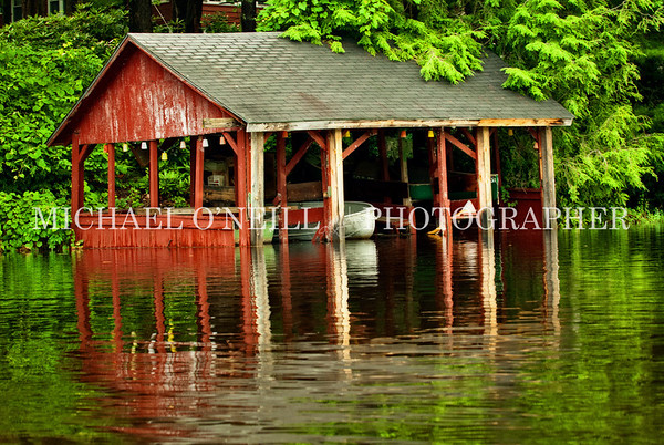 lakeside boathouse
