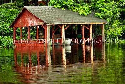 lakeside boathouse