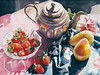 "<h2>China Tin Pot</h2>  <b>SOLD</b>   30"" x 22""  Pure Transparent Watercolor"