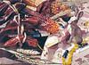 "<h2> Corn and Conejo </h2> SOLD Pure Transparent Watercolor  22""h x 30""w"
