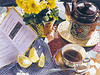 """<h2>Tea and Proverbs </h2> SOLD Pure Transparent Watercolor 22""""h x 30""""w"""