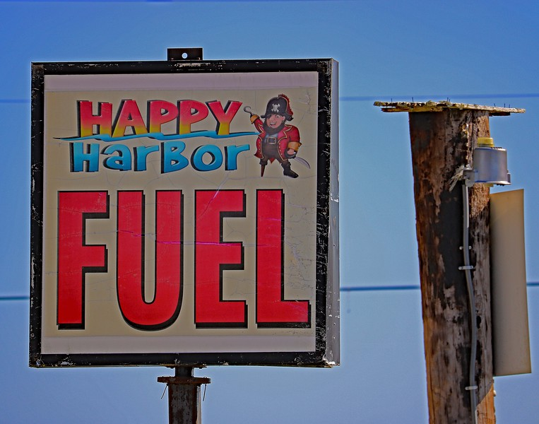 Happy Harbor Fuel Sign