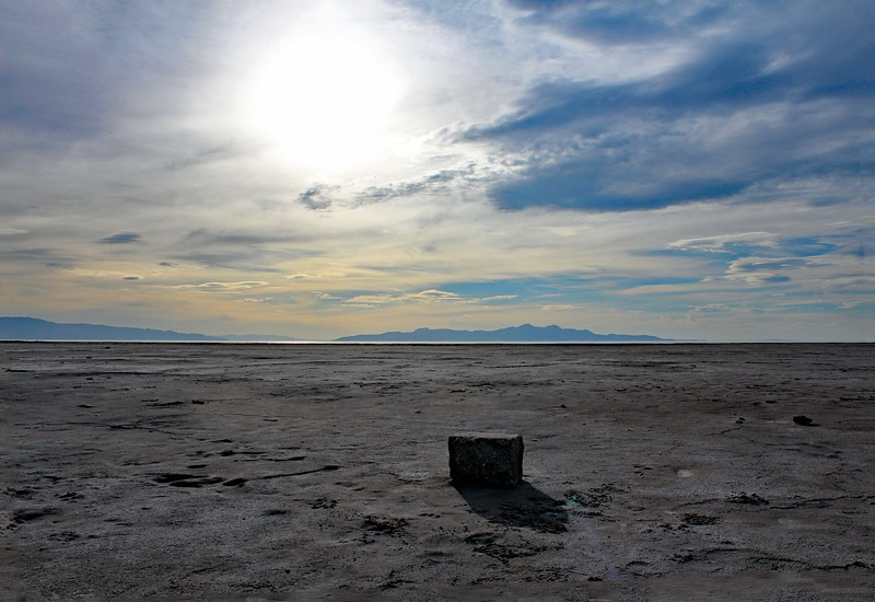 The Rock on Salt Flat