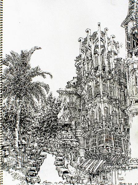 "Palma de Mallorca, Spain,<br /> ink,<br /> 7.5"" by 11"""