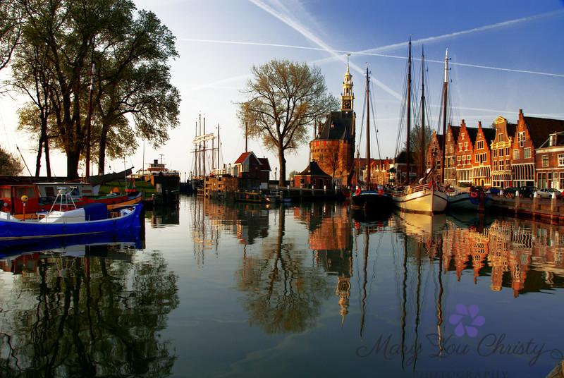 Hoorn, the Netherlands, just after sunrise.