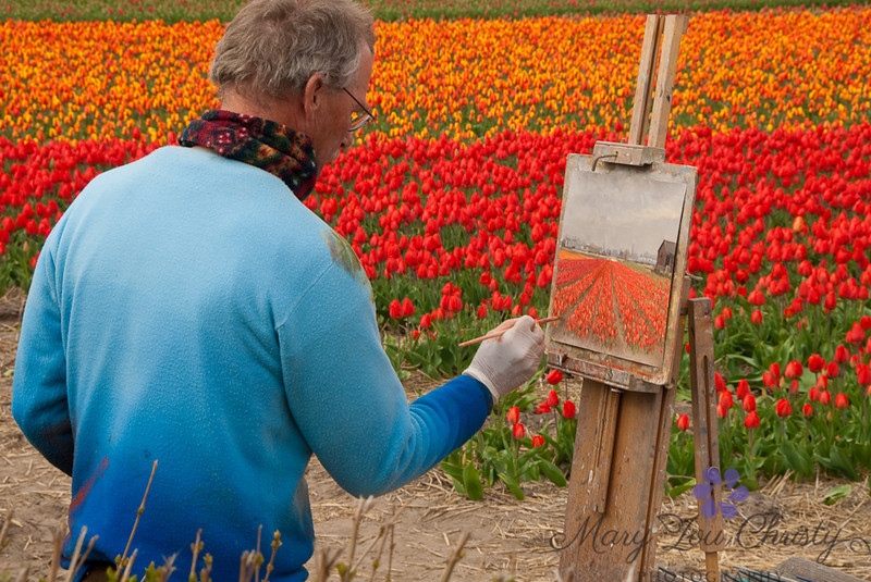 Artist in Holland.