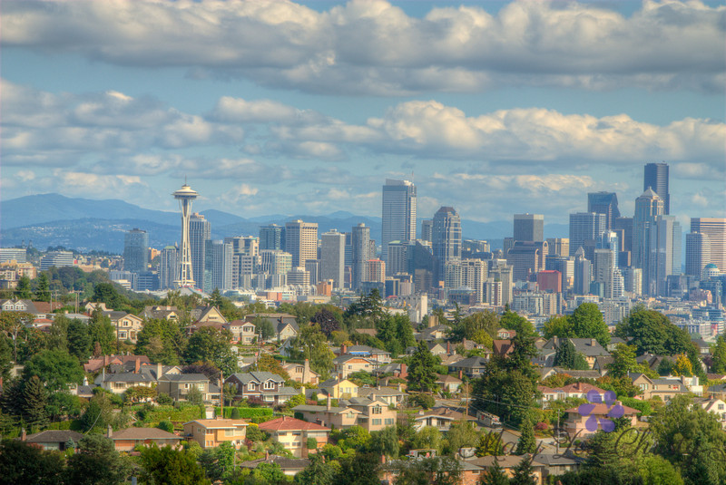 HDR image of Seattle, taken from Magnolia.